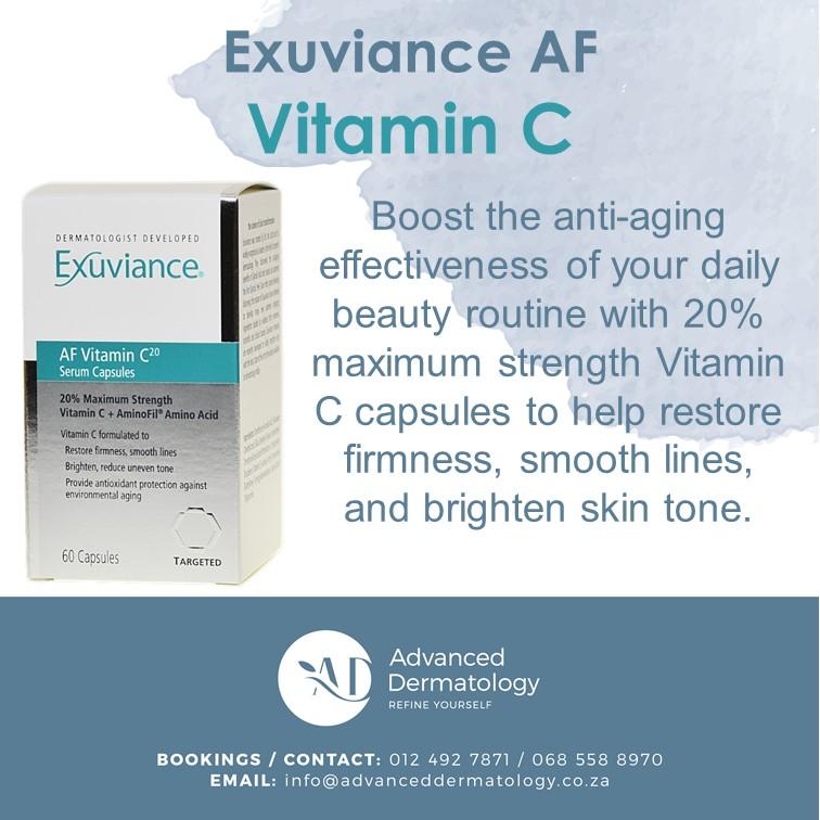 advanced dermatology exuviance af vitamin c